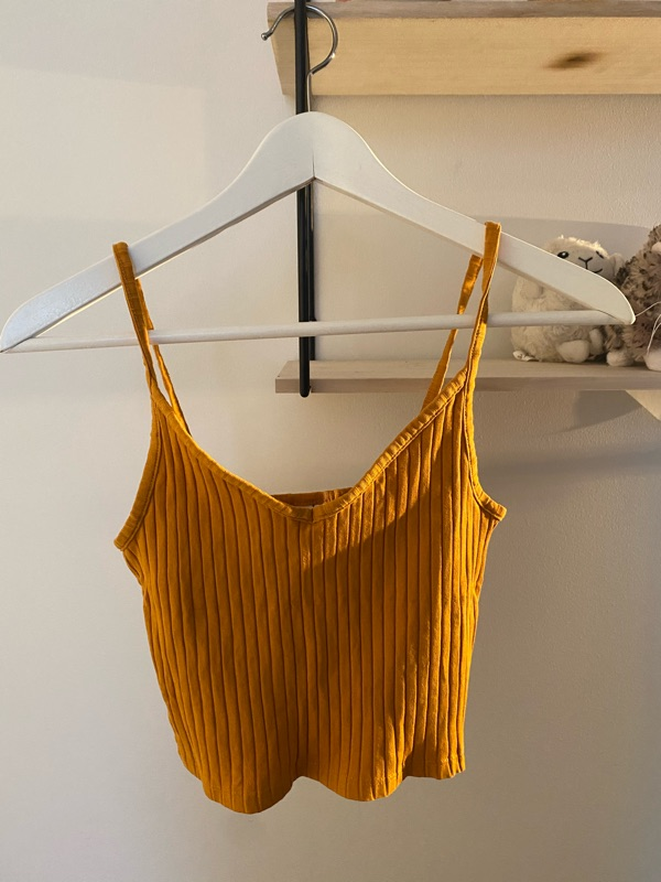 Mustard yellow top from H&M